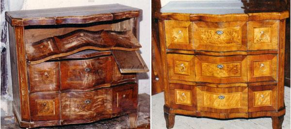 Biedermeier antik bútor felújítása